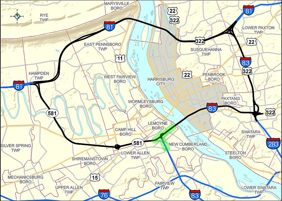 The bottleneck was located in the southern portion of the Capital Beltway.
